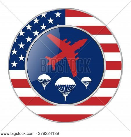 National Airborne Day Celebrated Annually On 16 August. Congratulatory Poster Background, All Elemen