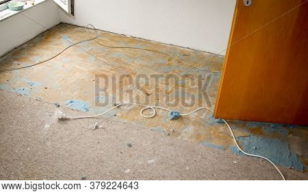 A Carpet, Carpeting Is Removed With The Help Of A Stripper.