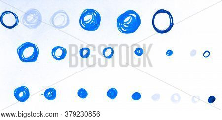 Circles. Circular White Messy Brush Art. Stroke Oriental Technology. Hipster Repeat Fabric. Backgrou