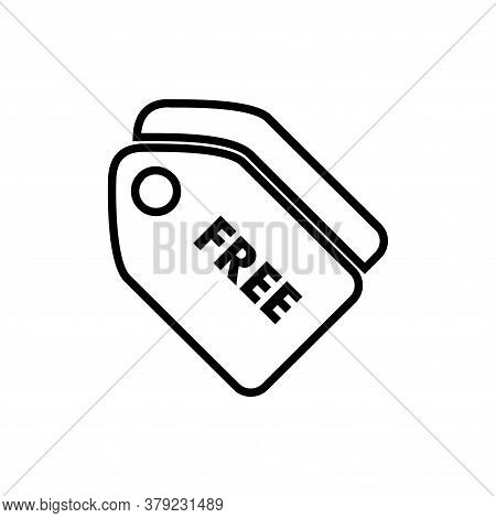 Free Tag Icon Vector. Free Tag Icon Isolated On White Background. Free Tag Icon Simple And Flat Styl
