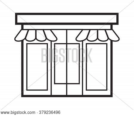Store, Shop Icon Vector Set. Mini-market, Shopping Symbol In Outline Style. Online Sale, Customize A