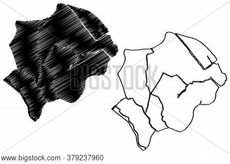 Can Tho City (socialist Republic Of Vietnam, Mekong Delta Region) Map Vector Illustration, Scribble