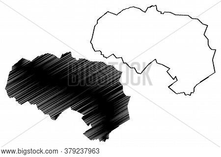 Da Lat City (socialist Republic Of Vietnam, Central Highlands Region) Map Vector Illustration, Scrib