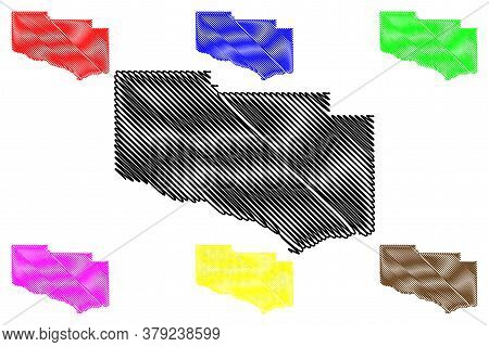 Jerome County, Idaho (u.s. County, United States Of America, Usa, U.s., Us) Map Vector Illustration,