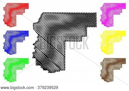 Payette County, Idaho (u.s. County, United States Of America, Usa, U.s., Us) Map Vector Illustration