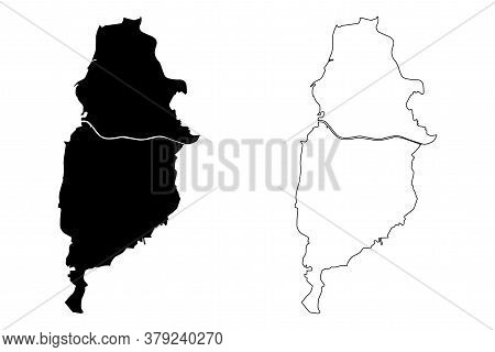 Osasco City (federative Republic Of Brazil, Sao Paulo State) Map Vector Illustration, Scribble Sketc