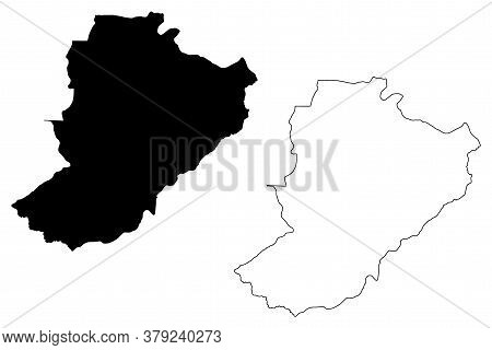 Ribeirao Preto City (federative Republic Of Brazil, Sao Paulo State) Map Vector Illustration, Scribb