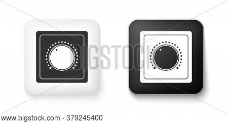 Black And White Electric Light Switch Icon Isolated On White Background. On And Off Icon. Dimmer Lig
