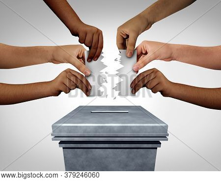 Election Crisis And Vote Problems Or Voter Suppression Concept As An Election Problem For Voters At