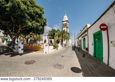 July 29, 2020. July 29, 2020. Lanzarote, Spain. The Old Church In Arrecife City