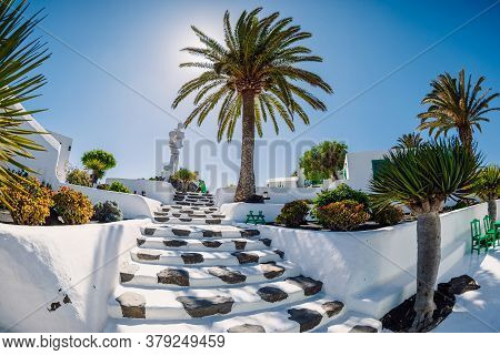 July 29, 2020. Lanzarote, Spain. A Part Of Casa Museo Del Campesino Or Agricultural Museum Designed