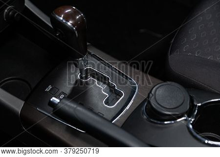 Novosibirsk/ Russia - July 26 2020: Ssangyong  Action, Close Up Of The Manual Gearbox Transmission H