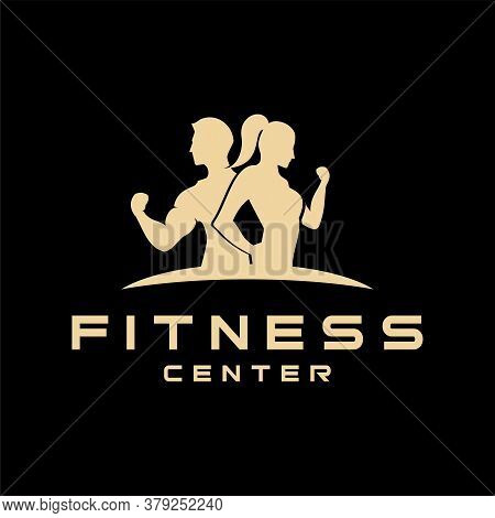 Fitness Logo . Sport And Fitness Logo Design . Gym Logo Icon Design Vector Stock, Fitness Idea Logo