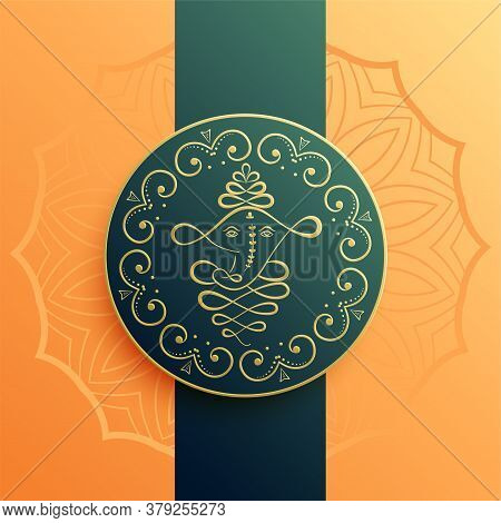 Creative Lord Ganesha Design Artistic Background Vector Design Illustration