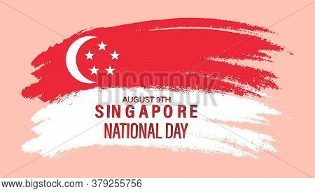 Vector Illustration Of August 9th Singapore's Independence Day. City-state Singapore National Day. A