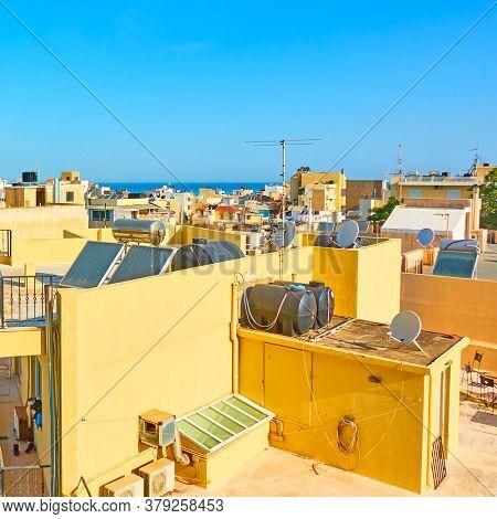 Rooftops of Heraklion, Crete island, Greece
