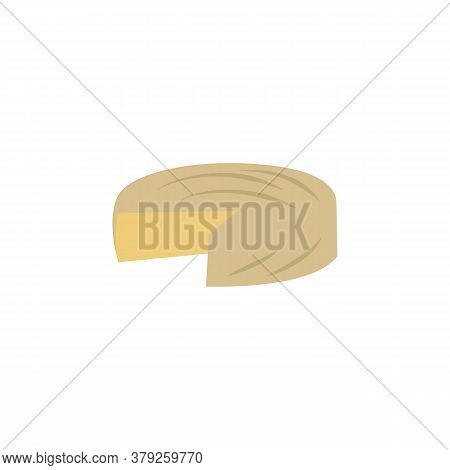 Brie Cheese Colored Icon. Signs And Symbols Can Be Used For Web, Logo, Mobile App, Ui, Ux