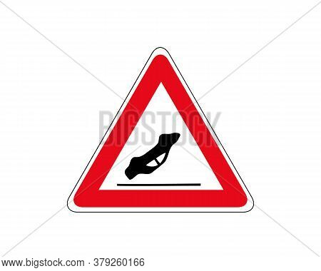 Traffic Accident Road Sign. Other Danger Traffic Sign. Illustration Of Red Triangle Warning Road Sig