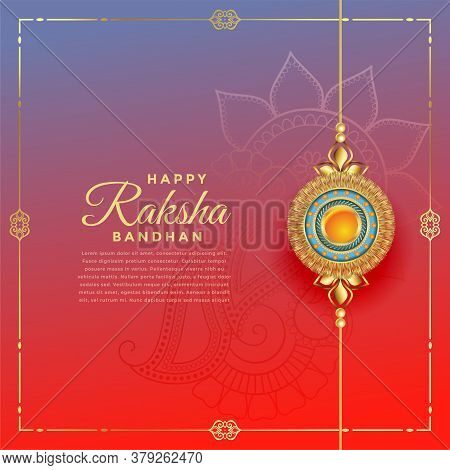 Lovely Rakshabandhan Festival With Rakhi Decoration Vector Design Illustration