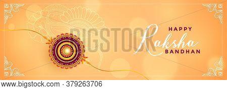 Rakshabandhan Festival Celebration Beautiful Banner Vector Design Illustration
