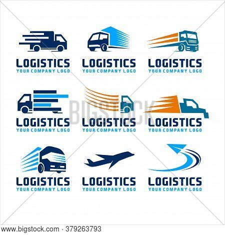 Transportation Logistics Logo, Vector Logo For Business Corporate, Delivery Of Goods, Logistic, Elem