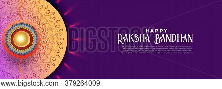 Happy Rakshabandhan Celebration Banner Vector Design Illustration