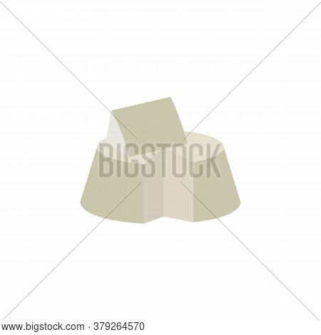 Ricotta Cheese Colored Icon. Signs And Symbols Can Be Used For Web, Logo, Mobile App, Ui, Ux