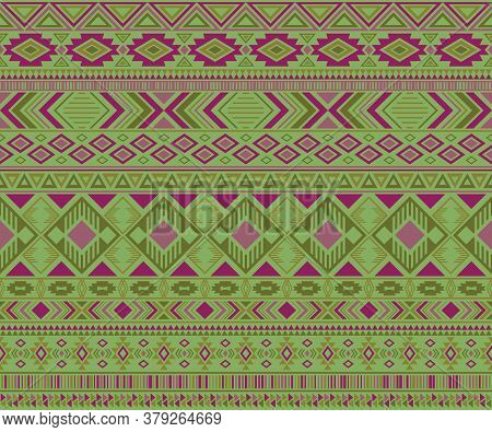 Navajo American Indian Pattern Tribal Ethnic Motifs Geometric Vector Background. Eclectic Native Ame