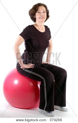 Woman On Fitness Ball 904