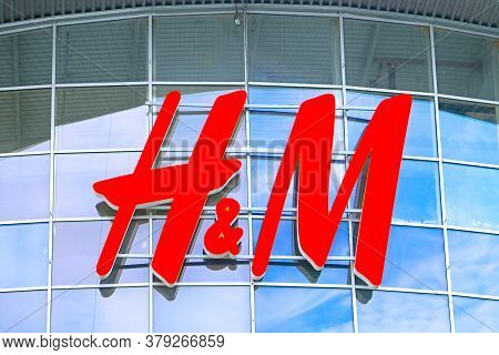 Kyiv, Ukraine - July 04, 2020: H&m Store In Dreamtown Shopping Mall. Hennes & Mauritz Ab Is A Swedis