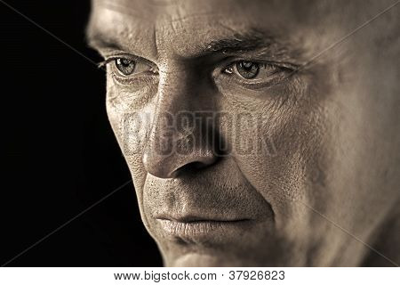 Portrait Of A Thoughtfull And Serious Man