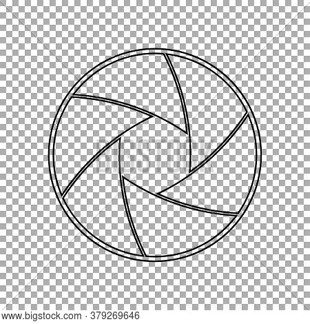 Camera Lens Shutter Icon Isolated On Transparent Background. Vector Illustration
