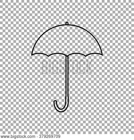 Umbrella Icon Isolated On Transparent Background. Vector Illustration
