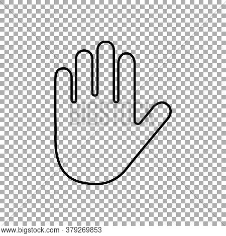 Hand Icon Isolated On Transparent Background. Vector Illustration