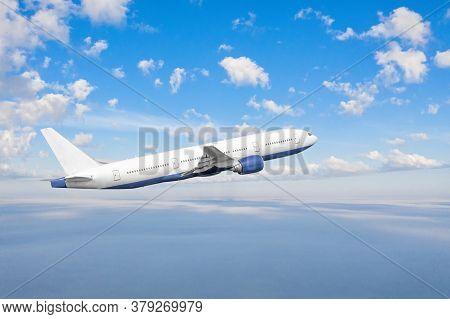 Airplane Flies In The Sky, Travel Between Countries