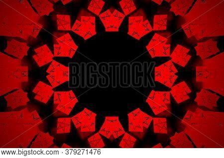Kaleidoscope Background. Abstract Fractal Shapes. Beautiful Multicolor Kaleidoscope Texture. Fantasy