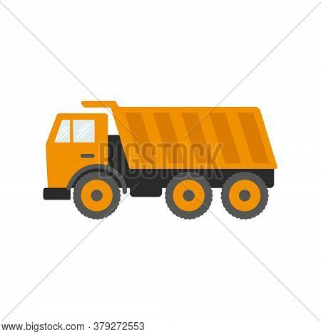 Construction Equipment, Machines For Building Work Isolated Icons Vector. Forklifts And Cranes, Exca