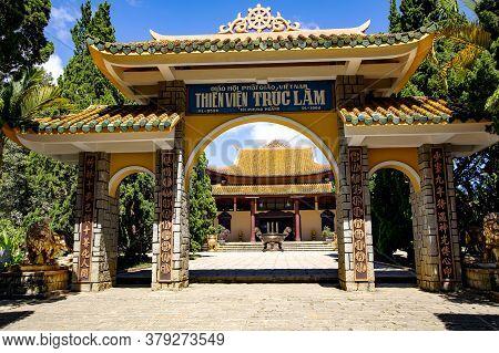 Vietnam, Da Lat, November, 2016 - Truc Lam Da Lat Zen Monastery - Vietnamese Buddhist Temple Chinese