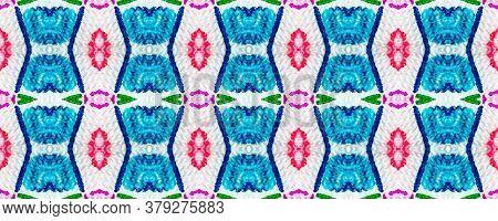 Tie Dye Pattern. Hand Drawn Shibori Print. Red Ink Background. Modern Batik Tile. Geometric Ornament