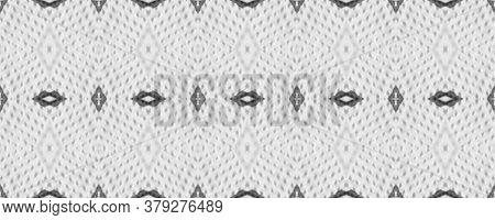 Simple Geometric Pattern. Primitive Ornament. Hand Drawn. Black And White. Monochrome Background. Tr