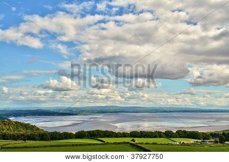 View over the Morecambe Bay estuary