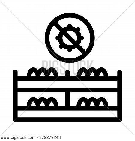 Mushroom Virus Free Icon Vector. Mushroom Virus Free Sign. Isolated Contour Symbol Illustration