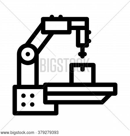 Manufacturing Technology Icon Vector. Manufacturing Technology Sign. Isolated Contour Symbol Illustr