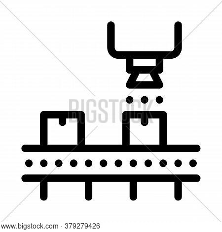 Industry Manufacturing Icon Vector. Industry Manufacturing Sign. Isolated Contour Symbol Illustratio