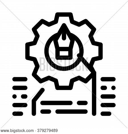 Front End Working And Design Icon Vector. Front End Working And Design Sign. Isolated Contour Symbol