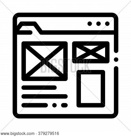 Front End Web Site Style Icon Vector. Front End Web Site Style Sign. Isolated Contour Symbol Illustr