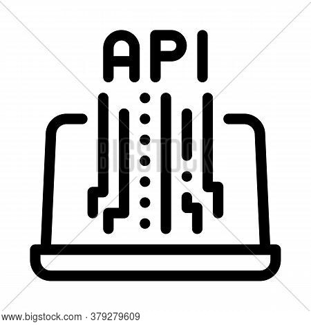 Front End Api Icon Vector. Front End Api Sign. Isolated Contour Symbol Illustration