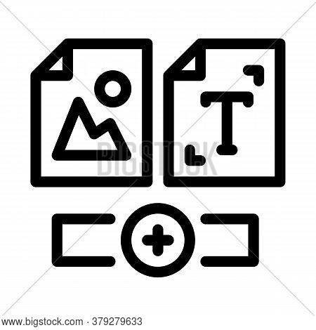 Web Side Image And Text Icon Vector. Web Side Image And Text Sign. Isolated Contour Symbol Illustrat