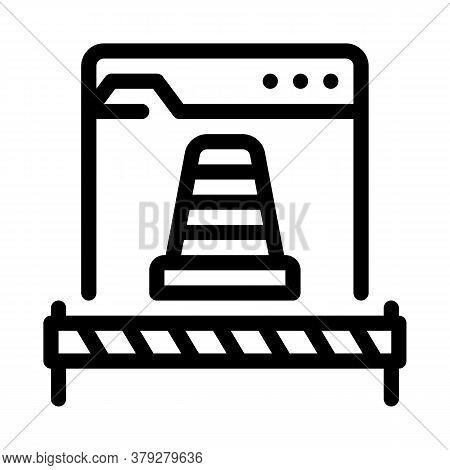 Web Site Repair Icon Vector. Web Site Repair Sign. Isolated Contour Symbol Illustration