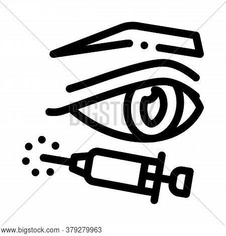 Eyelid Surgery Anesthesia Icon Vector. Eyelid Surgery Anesthesia Sign. Isolated Contour Symbol Illus